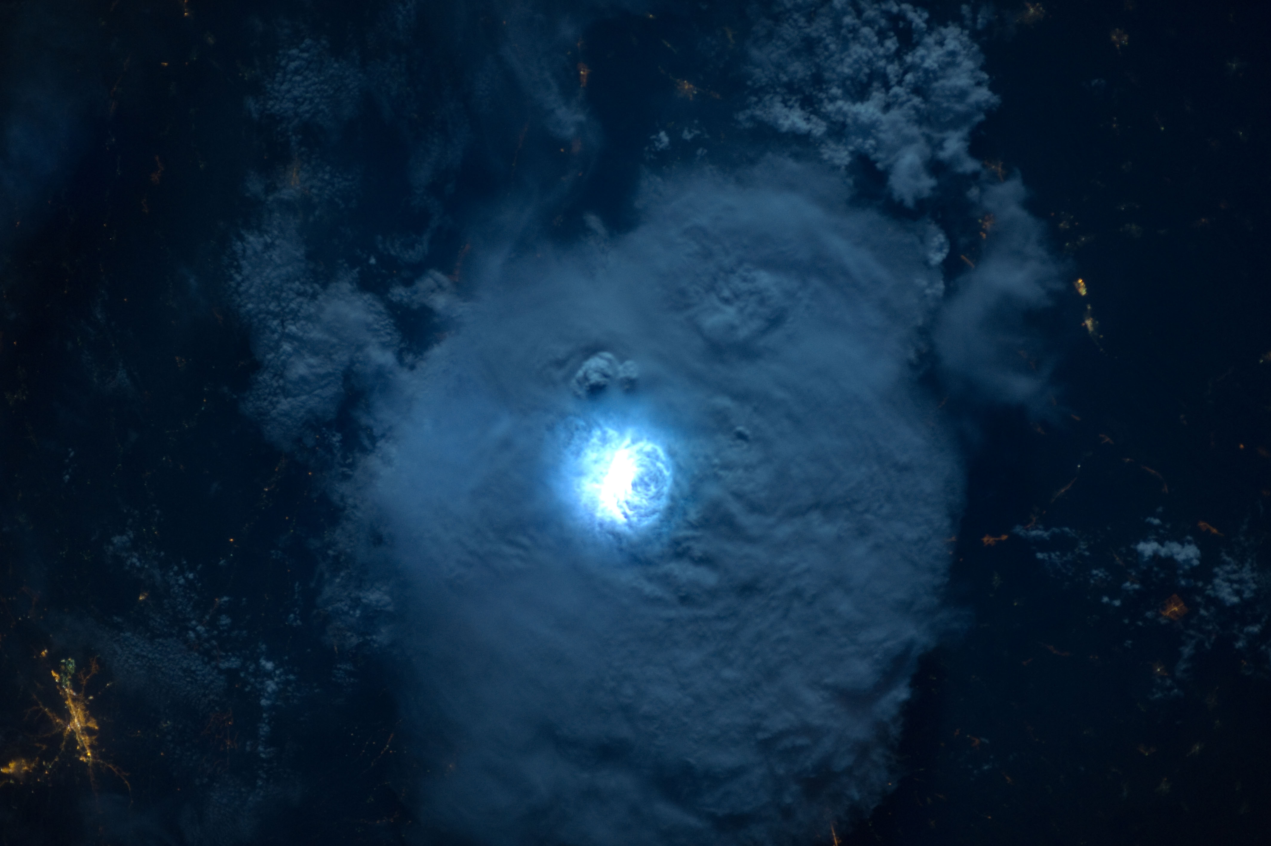 Space in Images - 2015 - 01 - Striking lightning from space