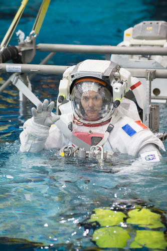 Thomas Pesquet during training for INC-49/INC-50 ISS EVA Maintenance run