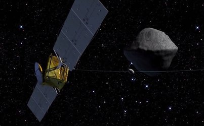 AIM at binary asteroid system