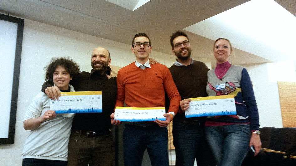 Appathon winning team, Italy