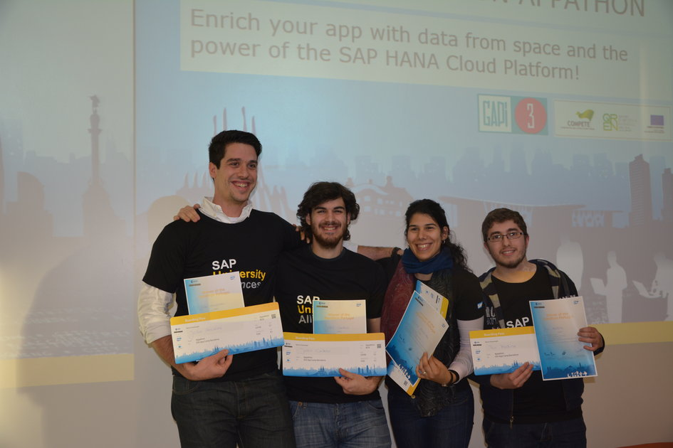 Appathon winning team, Portugal