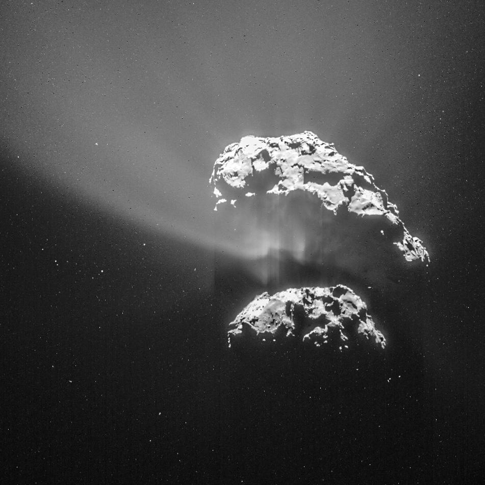 Rosetta : Mission autour de la comète 67P/Churyumov-Gerasimenko  - Page 17 Comet_on_9_February_2015_NavCam