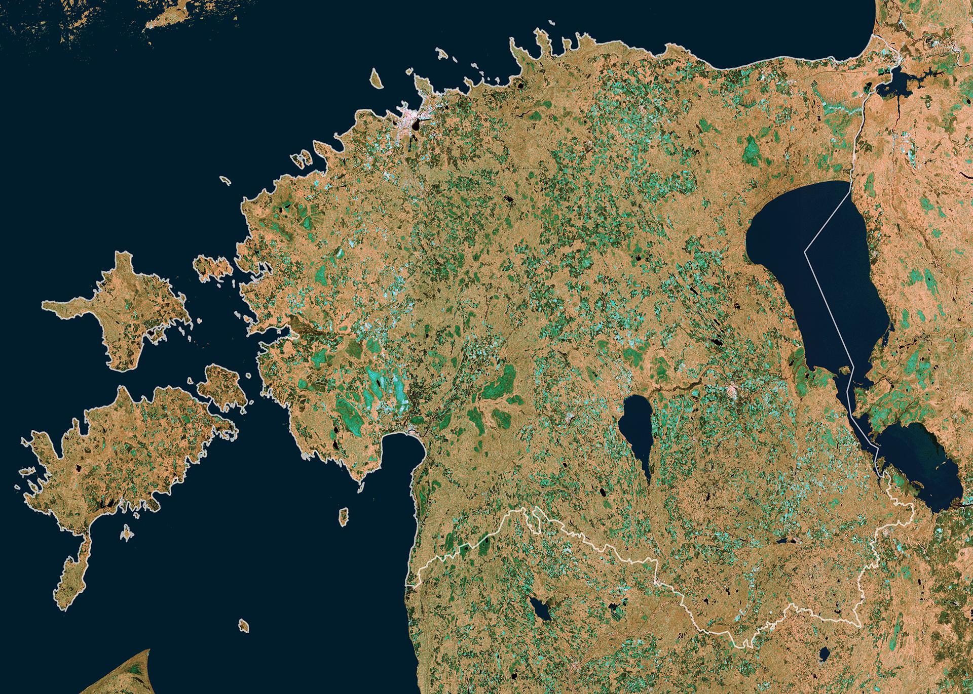 Space In Images Estonia - Estonia map download
