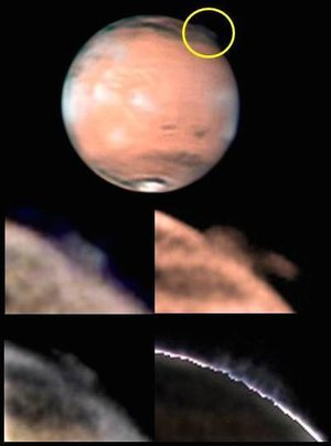 High-altitude plume on Mars
