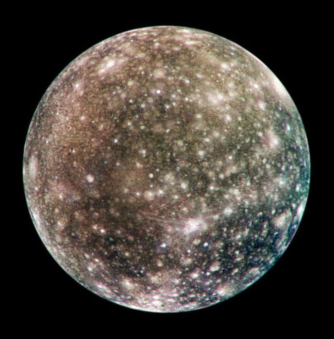 Jupiter's cratered moon, Callisto