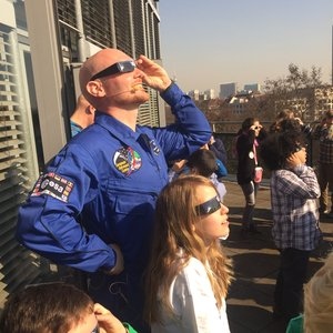 Alexander Gerst views eclipse