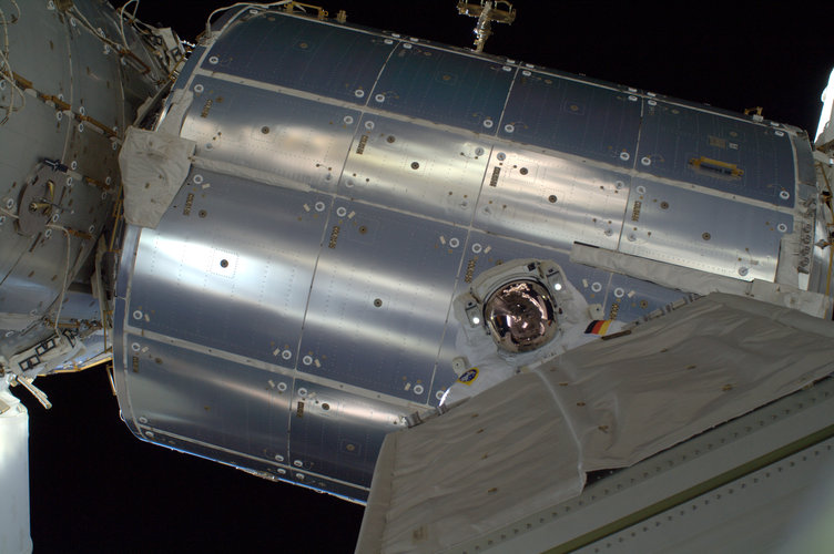 Alexander Gerst spacewalk with module