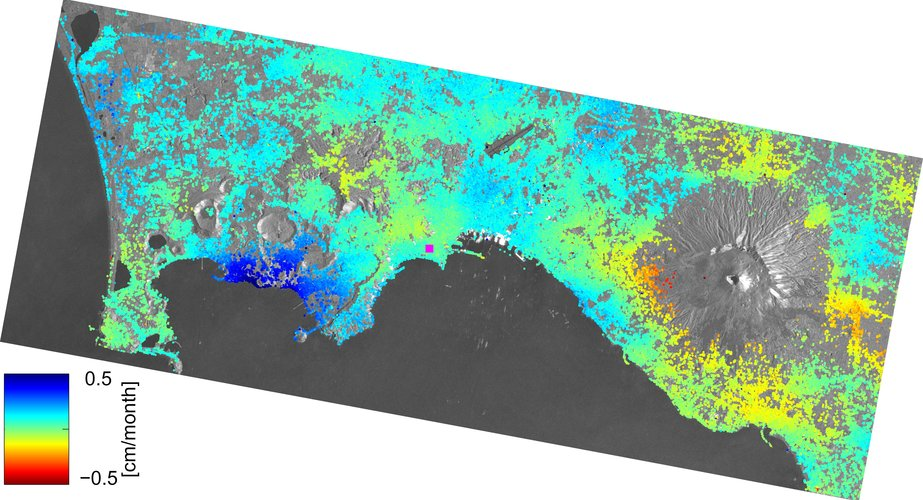 Campi Flegrei monitored by Sentinel-1