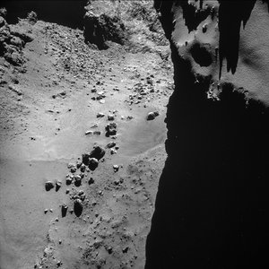 Comet on 17 October 2014 - NavCam