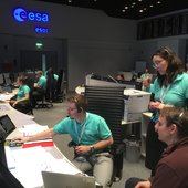 The ExoMars/TGO mission control team conducted the final pre-launch rehearsal on 12 March 2016 at ESOC, Darmstadt, Germany