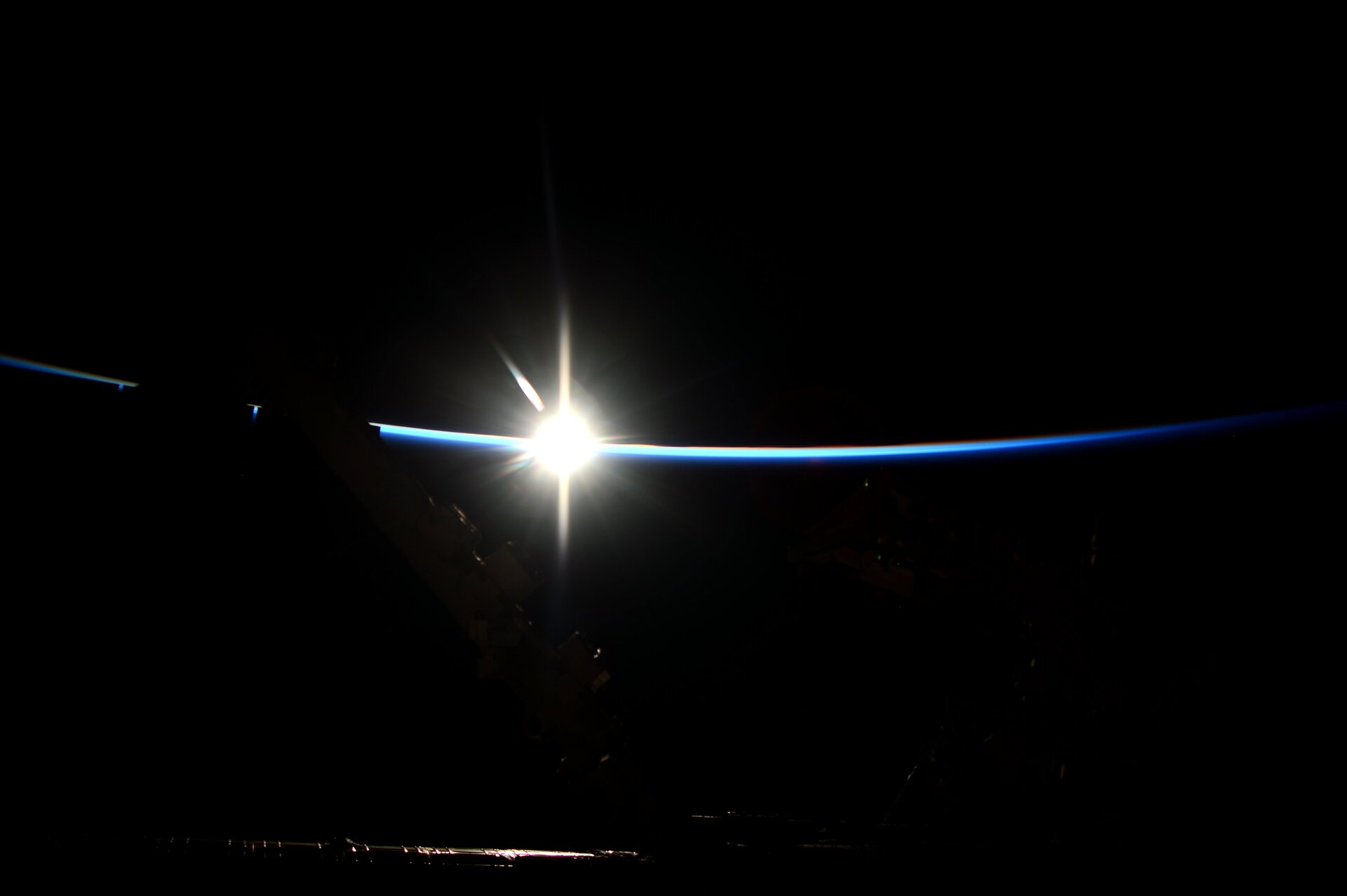 Sunrise seen from Space Station