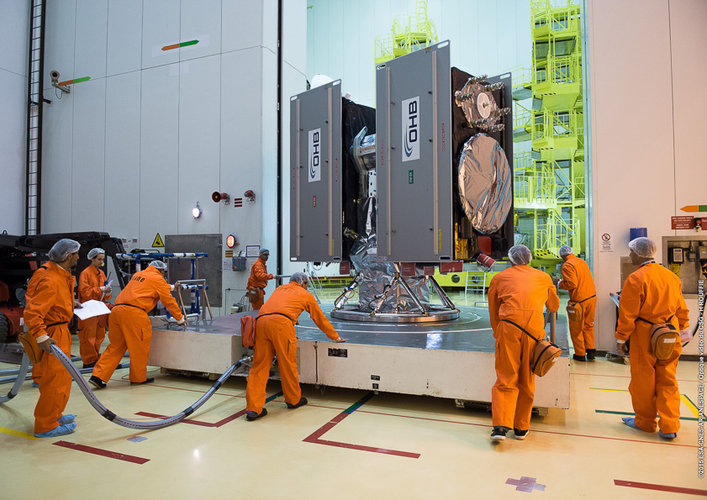 Galileo satellites moved to S3B building