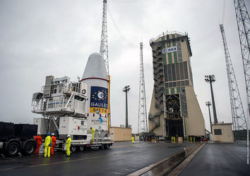 Galileos moved to launch pad