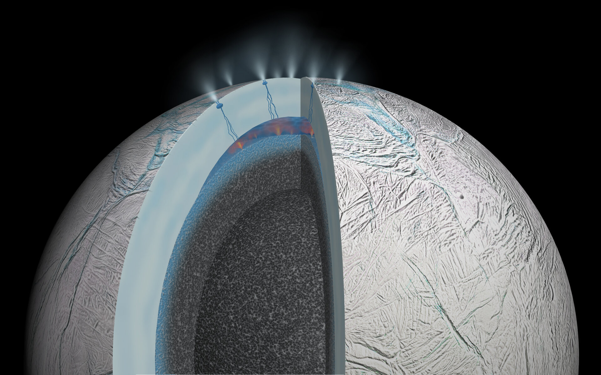 Hydrothermal activity on Enceladus