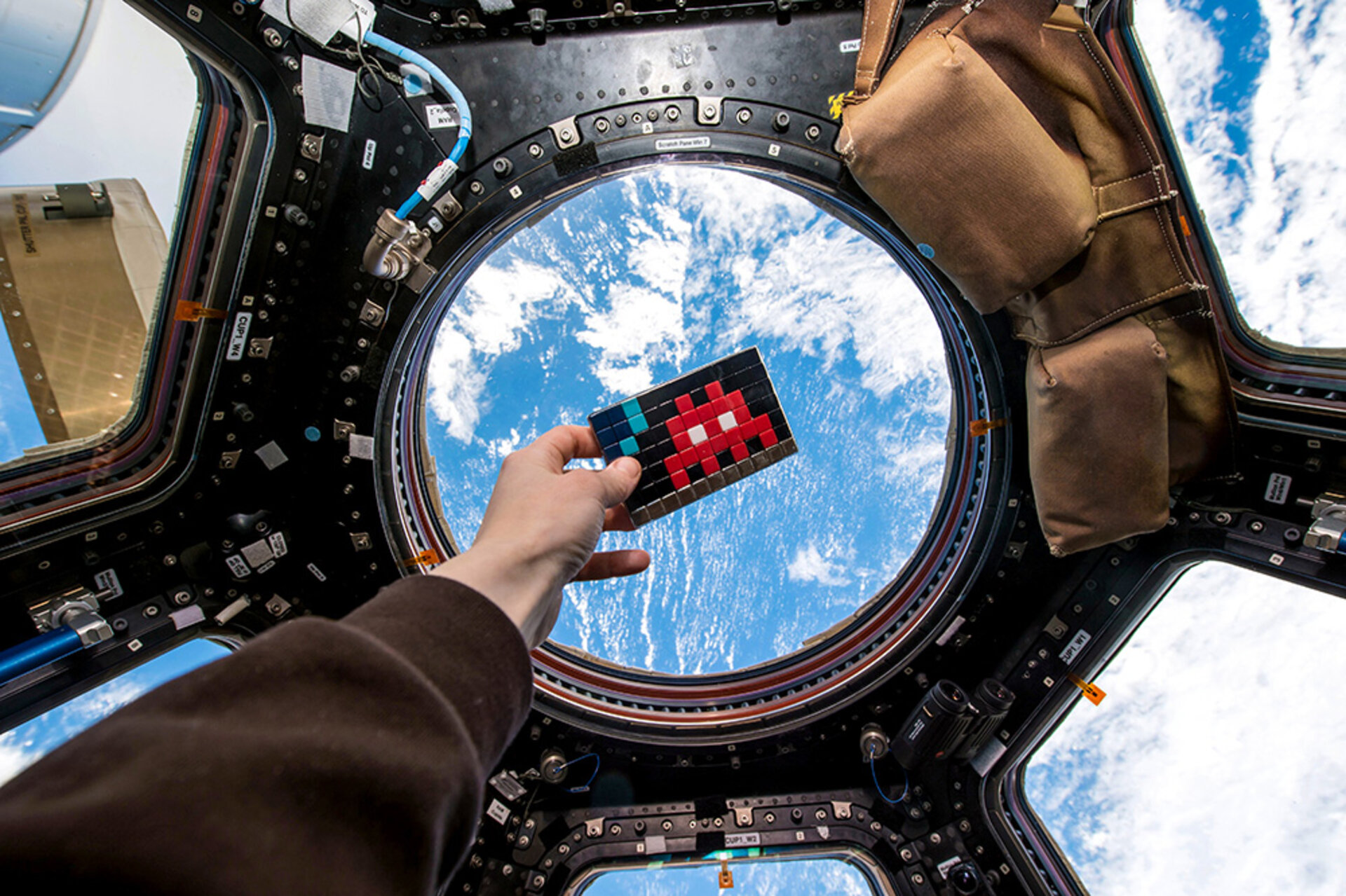 'A Space Invader' on the International Space Station