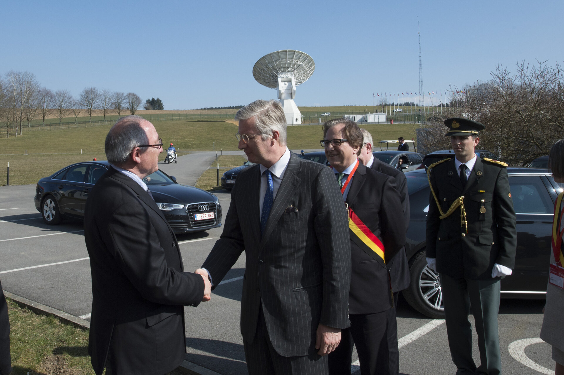 Jean-Jacques Dordain welcomes King Philippe of Belgium