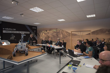 King Philippe of Belgium attended a learning session with Lego rover