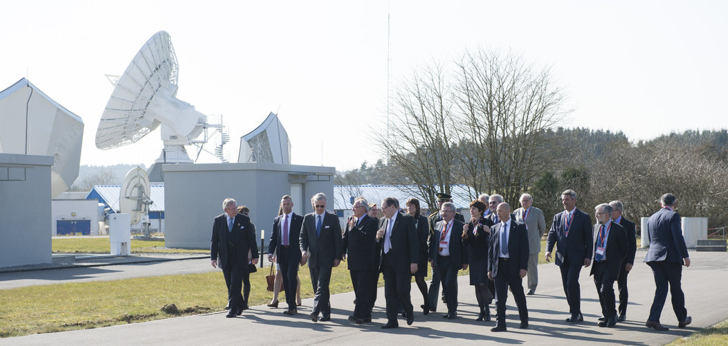King Philippe of Belgium visited the ESA centre in Redu