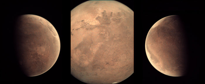 Some recent views of the Red Planet from the Visual Monitoring Camera, the