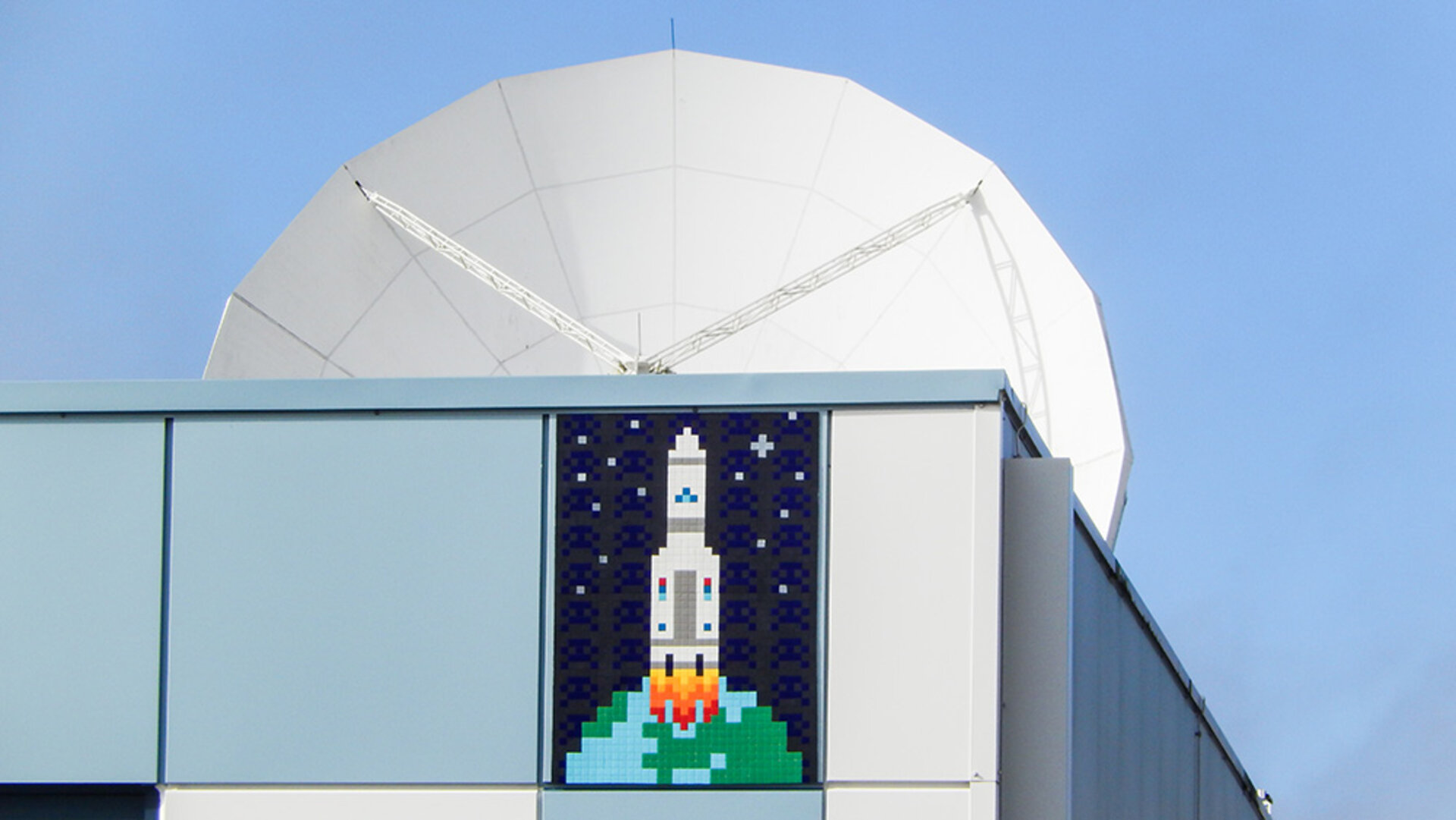 Mosaic art at ESA's Redu Centre in Belgium