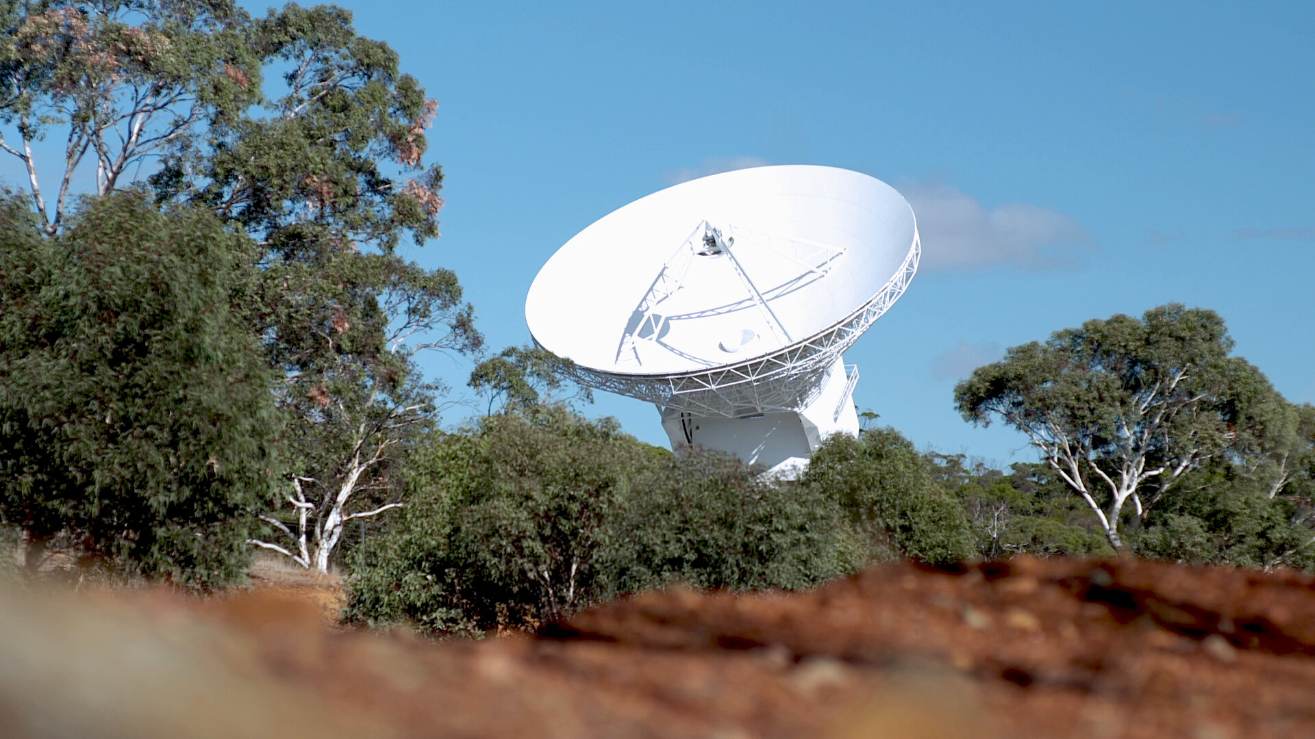 ESA's 35 m deep-space tracking dish in Australia was inaugurated in March 2003