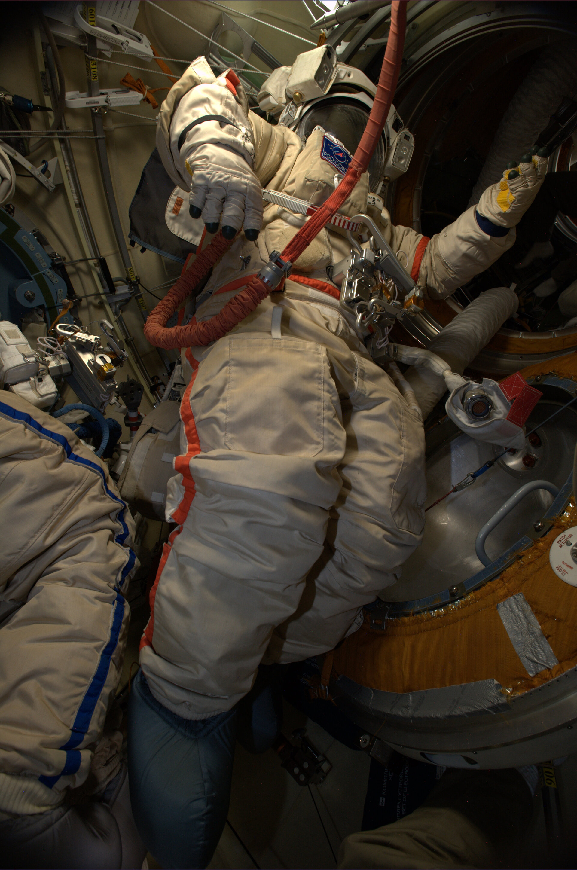 Orlan spacesuit on Space Station
