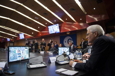 President of the Italian Republic Sergio Mattarella visits ESA Headquarters