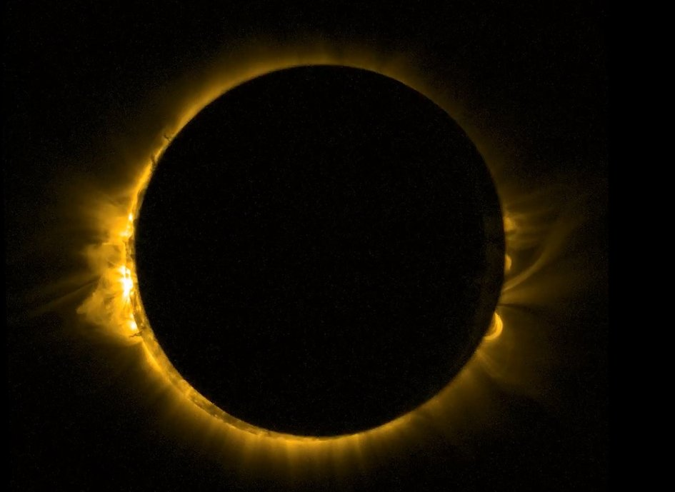 The solar eclipse 20/03/2015 from ESA