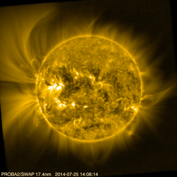 Solar corona viewed by Proba-2