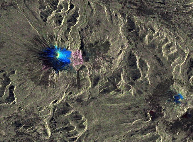 Surface changes of Villarrica from Sentinel-1A