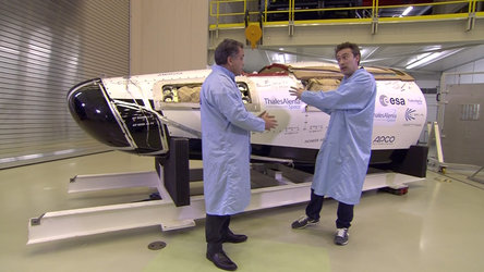 Talking about ESA's spaceplane on BBC Stargazing Live