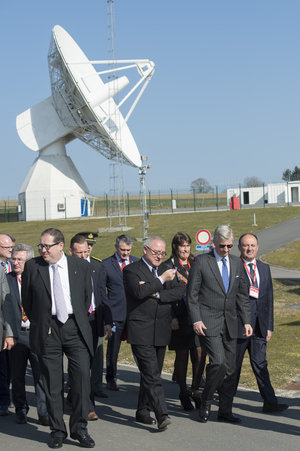 The King Philippe of Belgium visited the ESA establishment in Redu