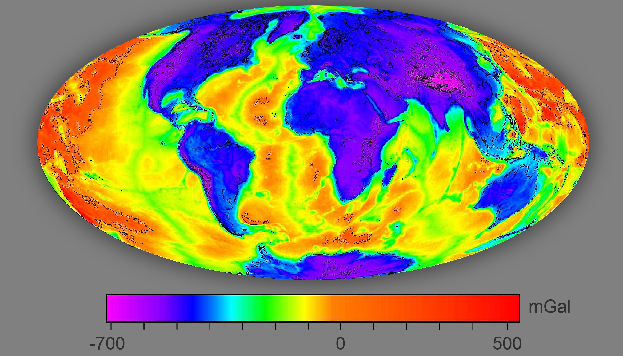 Magnetic Anomaly Map Of The World.Does Earth S Gravitational Field Look The Same As Earth S Magnetic