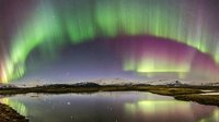 Colourful cosmic curtains
