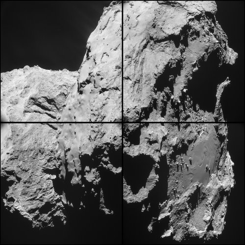 Comet on 28 March 2015 – NavCam montage (a)