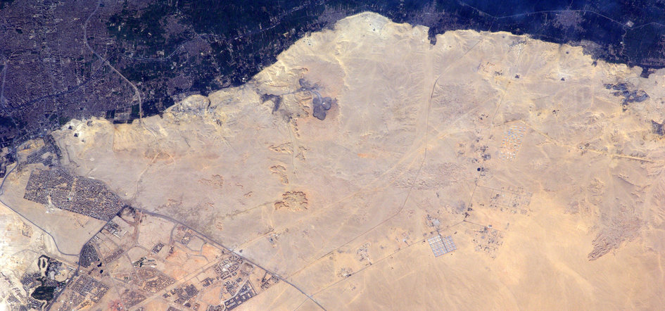 Pyramids from Space Station
