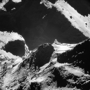 Comet closeup – 19 October 2014 – NavCam