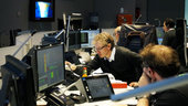 Sentinel 2 Spacecraft Operations Manager Franco Marchese and the Mission Control Team in simulation training at ESOC