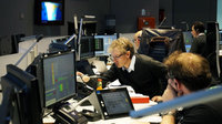 Sentinel-2 Spacecraft Operations Manager Franco Marchese and the Mission Control Team in simulation training at ESOC