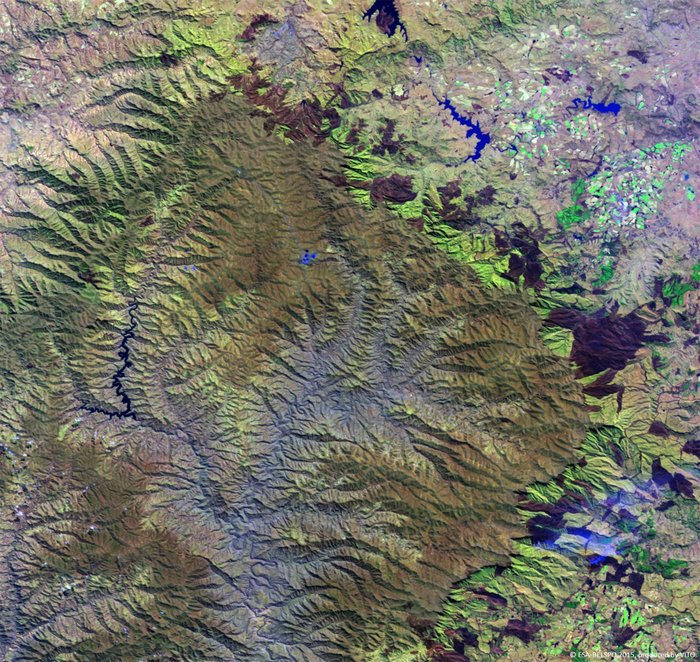 Proba V views Drakensberg mountains node full image 2 - ESA satellite pictures