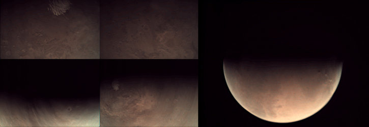 Collage of Mars Express VMC images acquired 25 May 2015
