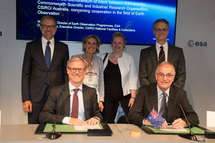 Agreement on the collaboration between Australian and European researchers