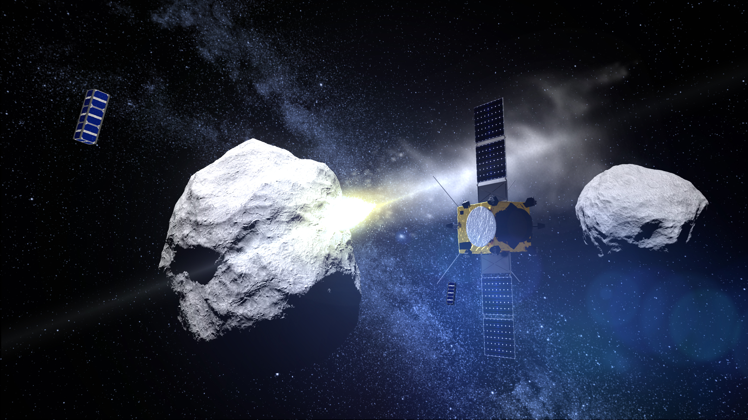 cubesat companions for esas asteroid mission asteroid impact