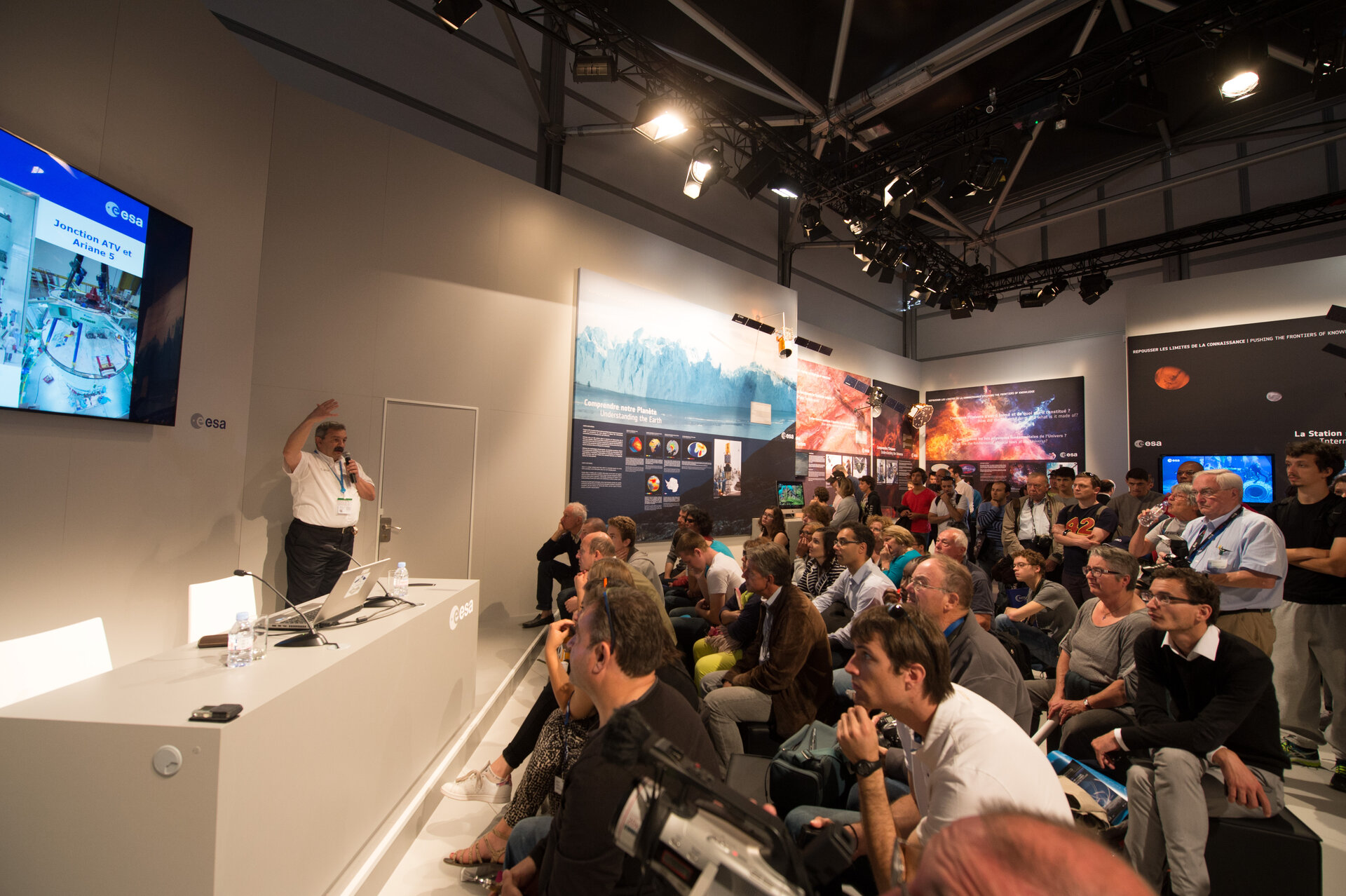 ATV programme presented at the ESA Pavilion