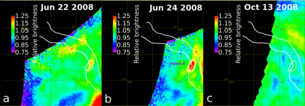 Detectados en Venus flujos de lava caliente