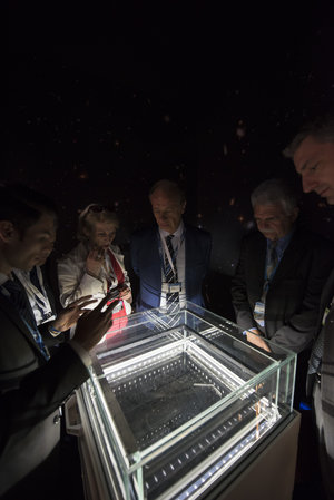 Cloud chamber at Le Bourget