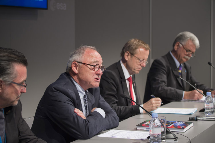 ESA press conference at the Paris Air & Space Show