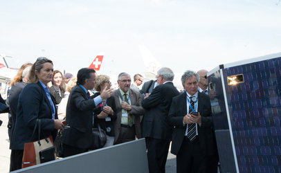 Members of the French Parliament at the ESA Pavilion