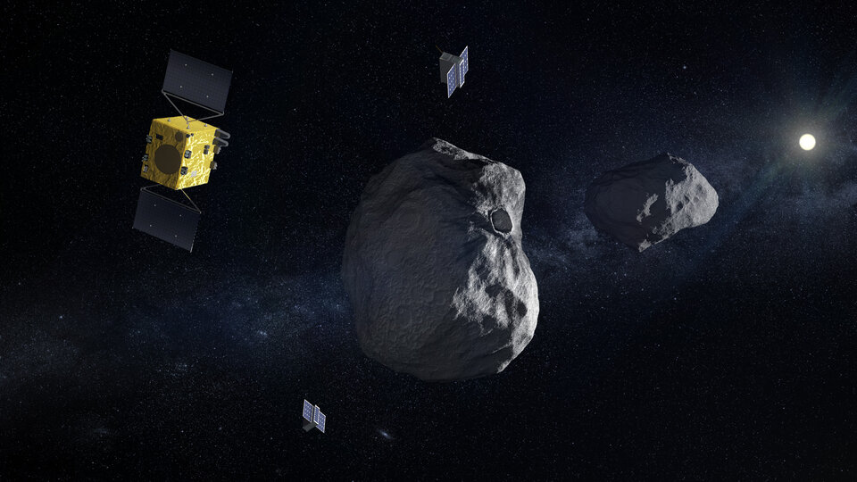 The Hera spacecraft will visit a binary asteroid system.