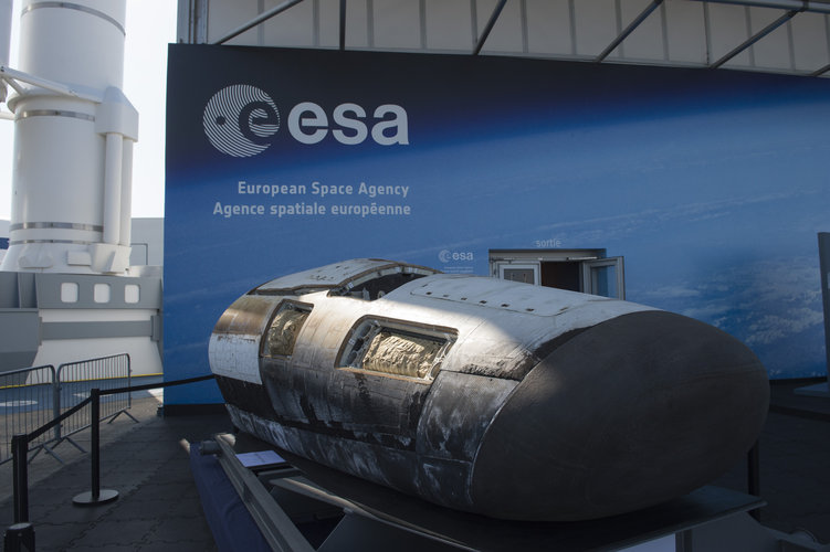 IXV being displayed at the Paris Air and Space Show